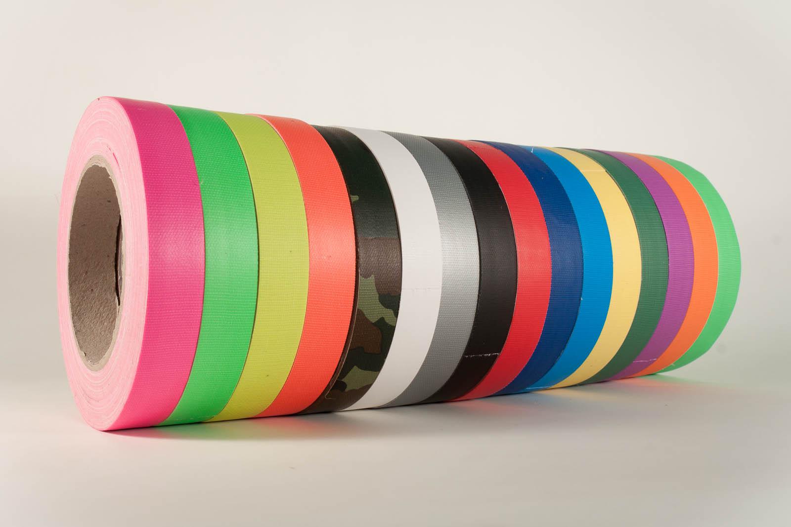 Panzertape bunt farbig Gaffer Gaffa Gewebeband alle Farben alle Breiten Sonderzuschnitt Konfektionierung